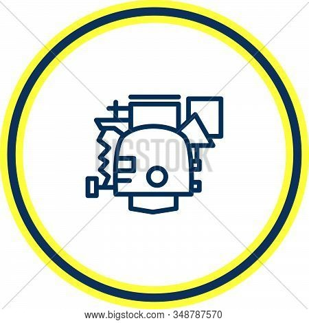 Vector Illustration Of Carburetor Icon Line. Beautiful Car Element Also Can Be Used As Power Icon El