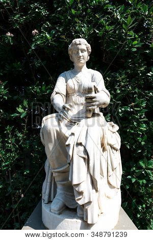 Florence, Italy - 26, March, 2016: Vertical Picture Of Amazing White Statue In The Boboli Gardens In