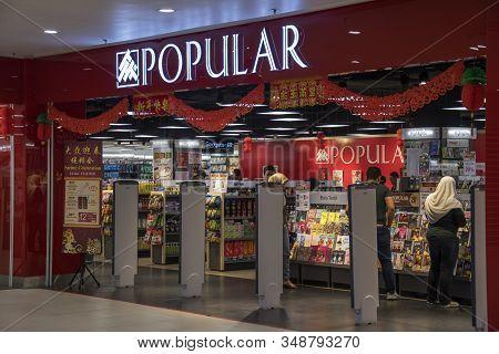 Johor Bahru, Malaysia- 26 Jan, 2020: Popular Bookstore Located In Johor Bahru, Malaysia. Popular Mal