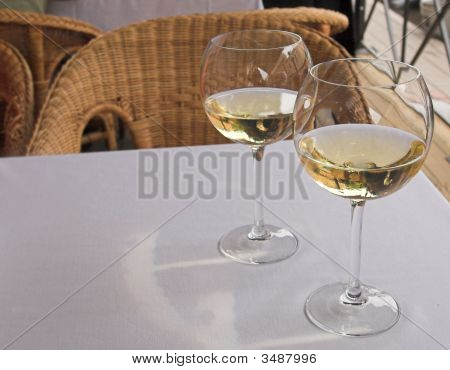 Cool White Wine For A Supper on the table poster
