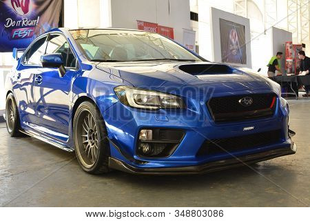 Pasig, Ph - Feb. 1: Subaru Wrx At Love, Cars, Babes 6 On February 1, 2020 In Metrotent Convention Ce
