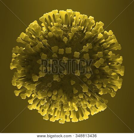 Influenza, Commonly Known As The Flu, Is An Infectious Disease Caused By An Influenza Virus. 3d Illu