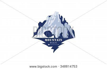 Wild Adventure Mountain Logo Design Vector Illustration