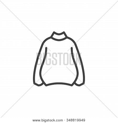 Womens Plus Size Sweater Line Icon. Linear Style Sign For Mobile Concept And Web Design. Sweatshirt,