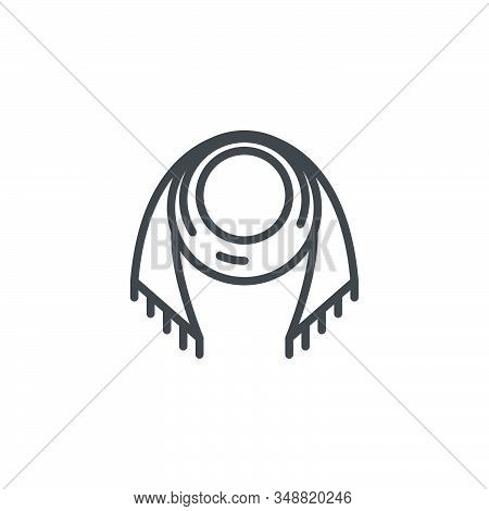 Woman Scarf Line Icon. Linear Style Sign For Mobile Concept And Web Design. Neck Scarf Outline Vecto