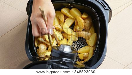 Air fryer homemade crispy potato