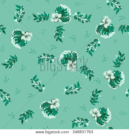 Seamless Vector Pattern Classic Blue Limited Color Palette: Ice, Slate, Classic Blue, Midnight - Blu