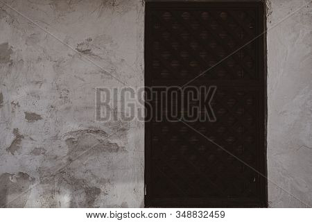 Door Of An Old Abandoned Building Texture Background