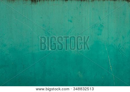 Beautiful Blue Stucco Wall Background With Decorative Space