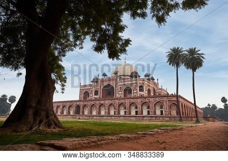Humayuns Tomb Is The Tomb Of The Mughal Emperor Humayun In Delhi, India. Designed By Persian Archite