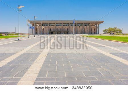 Jerusalem, Israel - 2018: The Knesset Building. Parliament of Israel, Jerusalem, Israel