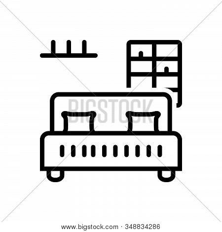 Black Line Icon For Bedroom-bar Bedroom Bar Dorm Dormer Furniture Living-room Sleep Dormitory Hostel