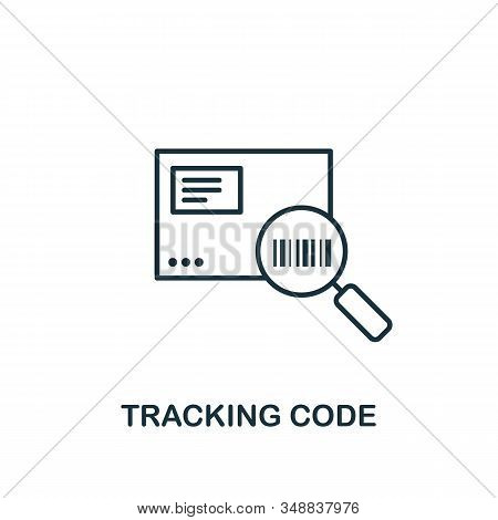 Tracking Code Line Icon. Thin Design Style From Logistics Delivery Icon Collection. Simple Tracking