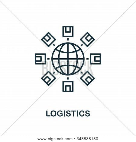 Logistics Line Icon. Thin Design Style From Logistics Delivery Icon Collection. Simple Logistics Ico