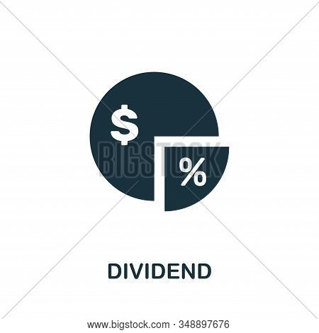 Dividend Icon. Creative Element Design From Stock Market Icons Collection. Pixel Perfect Dividend Ic