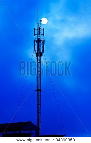 Phone antenna on silhouette