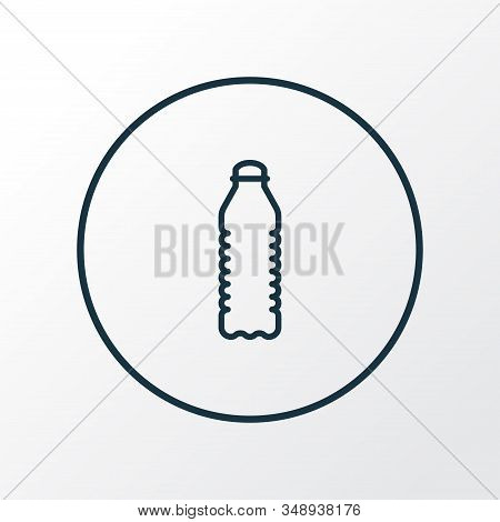 Water Bottle Icon Line Symbol. Premium Quality Isolated Soda Element In Trendy Style.