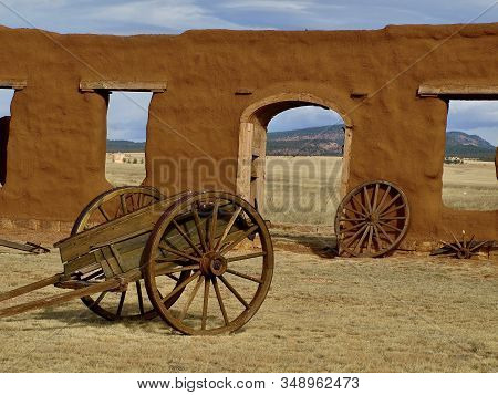 Adobe Window Tunnel In Walls Of Abandoned Fort Union, New Mexico
