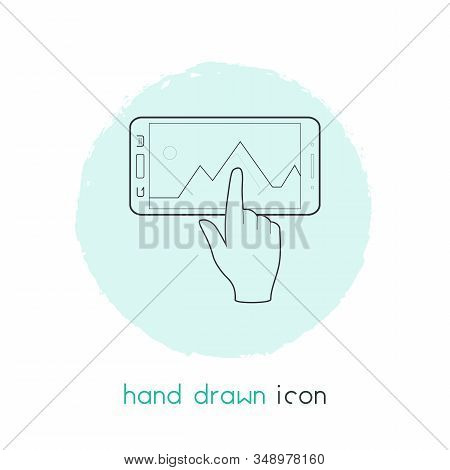 Interaction Design Icon Line Element. Illustration Of Interaction Design Icon Line Isolated On Clean