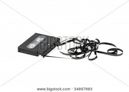 Dat Cassette With Tangled And Twisted Tape