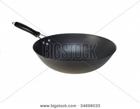 Chinese Wok Pan Isolated On White
