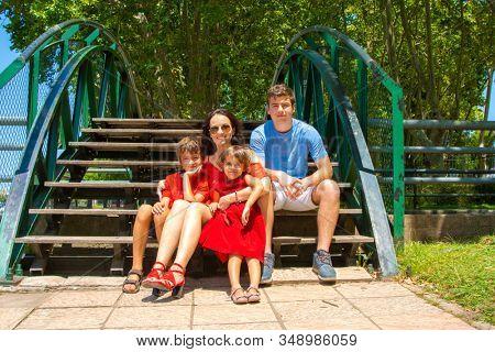 happy family outdoor in park