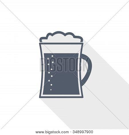 Beer In Mug Vector Icon, Lager, Drink Concept Flat Design Illustration