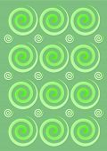 Green swirls abstract pattern design background illustration poster