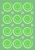 Green swirls abstract pattern design background illustration poster