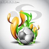 Shiny soccer ball. EPS 10. poster