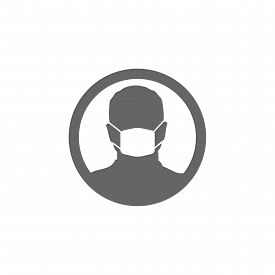 Face Mask Icon Isolated White Background Vector Illustration
