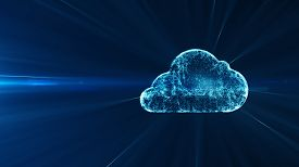 Cloud Computing And Big Data Concept. 5g Connectivity Of Digital Data And Futuristic Information. Ab