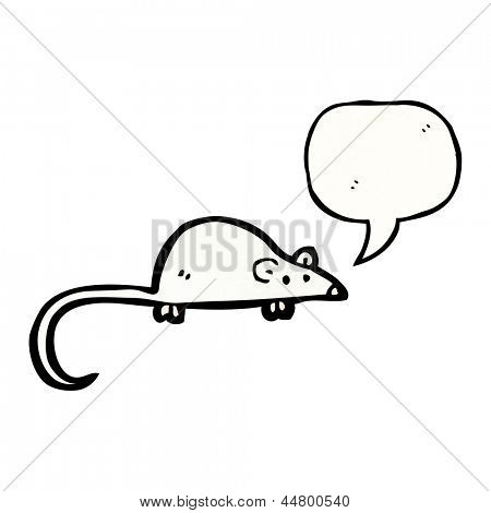 cartoon squeaking mouse