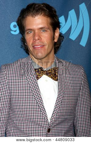 LOS ANGELES - APR 20:  Perez Hilton arrives at the 2013 GLAAD Media Awards at the JW Marriott on April 20, 2013 in Los Angeles, CA