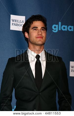 eLOS ANGELES - APR 20:  Darren Criss arrives at the 2013 GLAAD Media Awards at the JW Marriott on April 20, 2013 in Los Angeles, CA