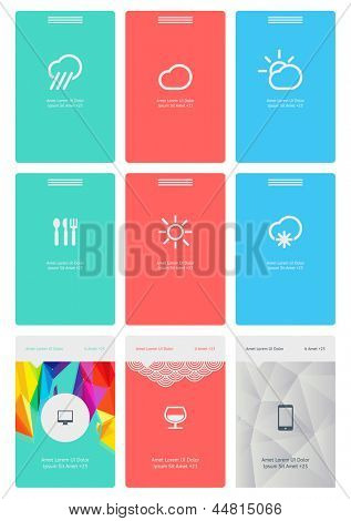 UI is a set of beautiful components featuring the flat design trend EPS10.