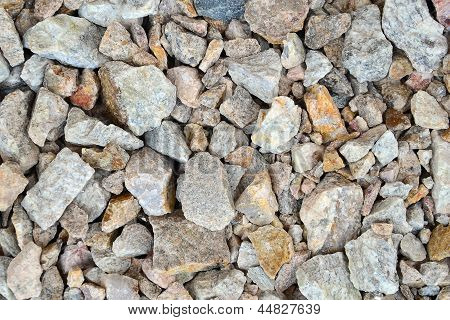Crushed Stone As Natural Background