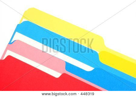 Colored Folders Oblique