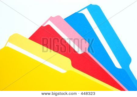 Colored Folders Tricolor
