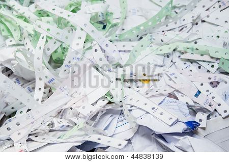 Waste paper recycling. office