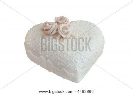 Wedding Cake In A Shape Of Heart