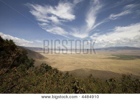Vieuw in Ngorongoro Krater Tansania vom Rand
