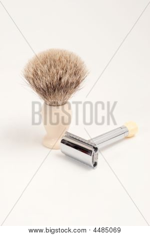 Safety Razor And Badger Brush