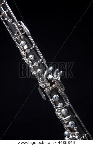 Oboe Isolated On Black