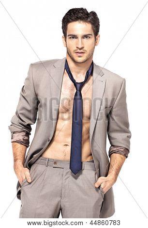 Elegant man in suit