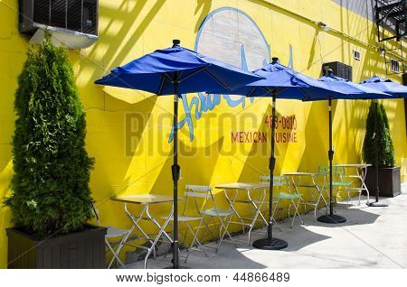 Colorful Mexican restaurant on the West Side in New York