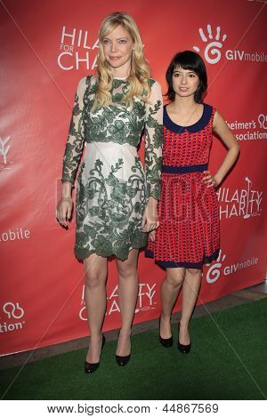 LOS ANGELES - APR 25:  Garfunkel & Oates aka Riki Lindhome, Kate Micucci arrives at the Second Annual Hilarity For Charity  at the Avalon  on April 25, 2013 in Los Angeles, CA