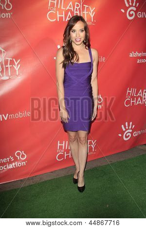 LOS ANGELES - APR 25:  Natalie Lander arrives at the Second Annual Hilarity For Charity benefiting The Alzheimer's Association  at the Avalon  on April 25, 2013 in Los Angeles, CA