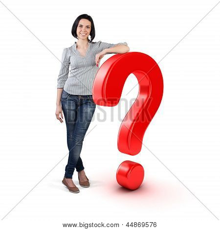 Girl With A Question