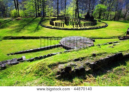 Sarmizegetusa Regia (situated at 1200m altitude, it was the strategical centre of the dacian defensive system in Orastiei Mountains)